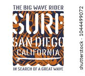 surfing artwork. california... | Shutterstock .eps vector #1044499072