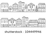 illustration of houses and... | Shutterstock . vector #104449946