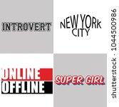 set of typography slogan for t... | Shutterstock .eps vector #1044500986