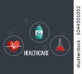 medical elements set icons | Shutterstock .eps vector #1044501052