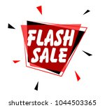 flash sale sign with red label | Shutterstock .eps vector #1044503365