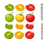 set of hand drawn tomatoes...   Shutterstock .eps vector #1044503818