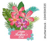 happy mothers day card with... | Shutterstock .eps vector #1044504535
