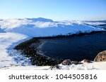 arctic ocean  winter time  snow ... | Shutterstock . vector #1044505816