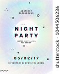 night party poster. 80s disco... | Shutterstock .eps vector #1044506236
