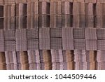 stack of cardboard boxes.... | Shutterstock . vector #1044509446