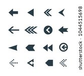 arrow icon set. web arrow... | Shutterstock .eps vector #1044515698