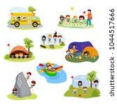 kids camp vector children... | Shutterstock .eps vector #1044517666