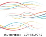 set of abstract color  curved... | Shutterstock .eps vector #1044519742