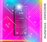 template realistic smartphone... | Shutterstock .eps vector #1044523048