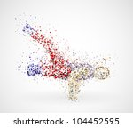 abstract image of a dancing... | Shutterstock .eps vector #104452595