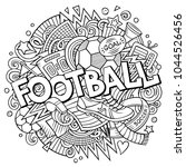 cartoon cute doodles hand drawn ...   Shutterstock .eps vector #1044526456
