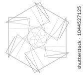 geometric patterns etudes... | Shutterstock .eps vector #1044527125
