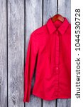 stylish feminine red shirt ... | Shutterstock . vector #1044530728