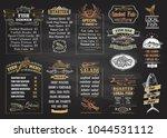 fish menu chalkboard desigs set ... | Shutterstock .eps vector #1044531112