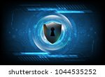 3d protected guard shield... | Shutterstock .eps vector #1044535252