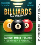 pool billiards tournament... | Shutterstock .eps vector #1044540742