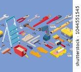 tools seamless pattern. builder ... | Shutterstock .eps vector #1044551545