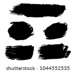 collection of hand drawn black... | Shutterstock .eps vector #1044552535