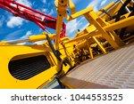concrete pump of construction... | Shutterstock . vector #1044553525