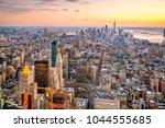 aerial view of manhattan... | Shutterstock . vector #1044555685