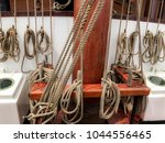 the mast with all the rope in a ... | Shutterstock . vector #1044556465