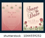 vector set of invitation cards... | Shutterstock .eps vector #1044559252