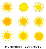 Sun Collection. Vector...