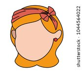 cute and little girl head | Shutterstock .eps vector #1044564022