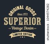 superior denim  original goods...   Shutterstock .eps vector #1044574282