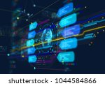 abstract techno background. | Shutterstock . vector #1044584866