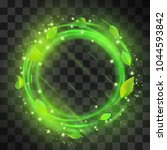 green swirling light vector... | Shutterstock .eps vector #1044593842