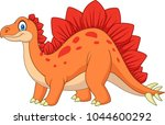 carton happy stegosaurus | Shutterstock .eps vector #1044600292