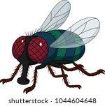 cartoon house fly isolated on... | Shutterstock .eps vector #1044604648
