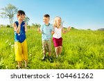 active soaked kids in the... | Shutterstock . vector #104461262