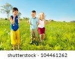 active soaked kids in the... | Shutterstock . vector #104461262
