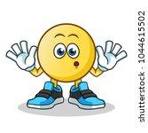 emoticon startled mascot vector ... | Shutterstock .eps vector #1044615502