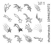 hand drawn doodle stars and...   Shutterstock .eps vector #1044619372