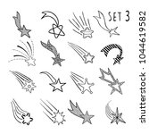 hand drawn doodle stars and... | Shutterstock .eps vector #1044619582