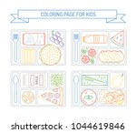 coloring pages for kids with...   Shutterstock .eps vector #1044619846