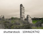 side ancient city. asia minor | Shutterstock . vector #1044624742