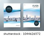 flyer design  leaflet cover... | Shutterstock .eps vector #1044626572