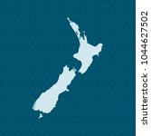 map of new zealand | Shutterstock .eps vector #1044627502