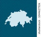map of switzerland | Shutterstock .eps vector #1044627526