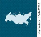 map of russia | Shutterstock .eps vector #1044627532