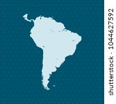 map of south america | Shutterstock .eps vector #1044627592