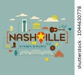 nashville landmarks ...   Shutterstock .eps vector #1044630778