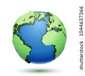 3d illustration of the globe... | Shutterstock .eps vector #1044637366