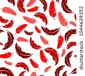 feather seamless pattern on... | Shutterstock .eps vector #1044639352