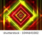 crazy vector neon rectangle...